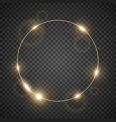 Circle of light golden color vector