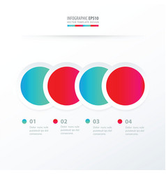Circle overlap infographic blue and pink color vector