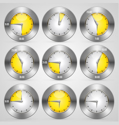 Clock with time stamp set vector