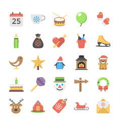 Collection of christmas flat vector