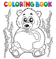coloring book valentine topic 4 vector image