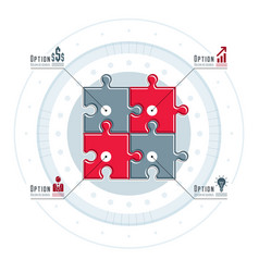 creative business infographics concept puzzle vector image