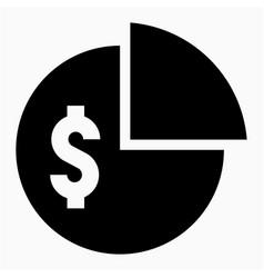 Dollar dividend icon vector