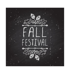 Fall festival - typographic element vector