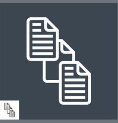 file exchange thin line icon vector image