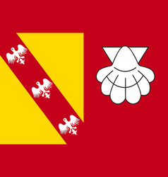 Flag of chateau-salins in moselle of grand est is vector