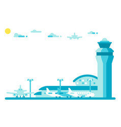 Flat design airport tower vector