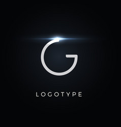 futurism style letter g minimalist type for vector image