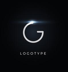 Futurism style letter g minimalist type vector