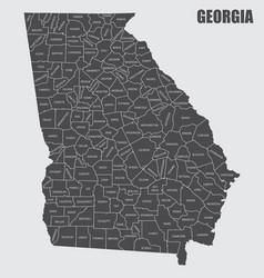 Georgia county map vector