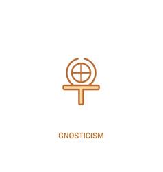 Gnosticism concept 2 colored icon simple line vector