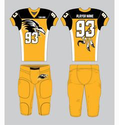 Gold black color combination american football vector
