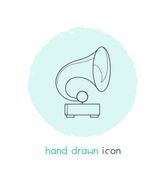 gramophone icon line element vector image