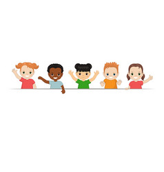 Group of happy children group of happy children vector