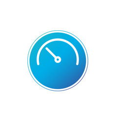 half clock in circle linear icon isolated on vector image