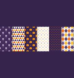 Halloween seamless pattern geometric wrapping vector