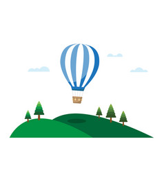 hot air balloons and clouds in the sky vector image