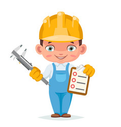 Houses inspection professional work clothes vector