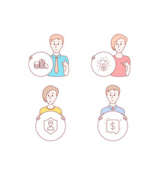 Idea security agency and banking money icons vector