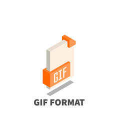 image file format gif icon symbol vector image