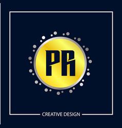 Initial letter pr logo template design vector