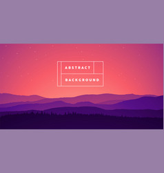 Landscape mountain abstract gradient bg vector
