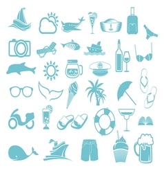 letnje ikone2 vector image