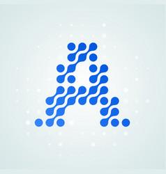 letter a logo halftone icon vector image
