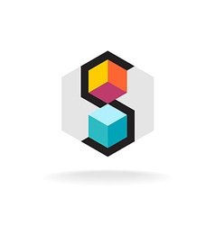 Letter S 3D logo vector image