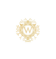 Letter w initial logo for wedding boutique luxury vector