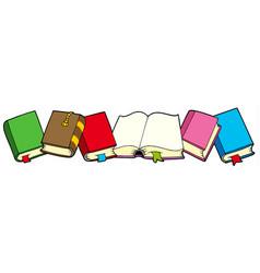 Line books vector