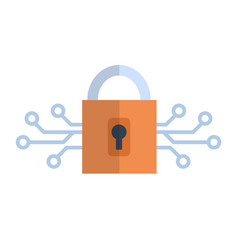 lock icon media network data protection concept vector image