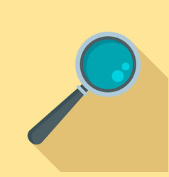 magnify glass icon flat style vector image