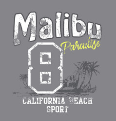 Malibu paradise vector