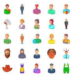 man icons set cartoon style vector image