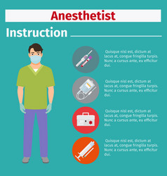 medical equipment instruction for anesthetist vector image