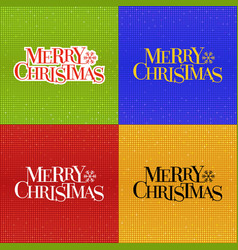 merry christmas typographic with glitter disco vector image