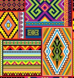 Mexican decor seam vector