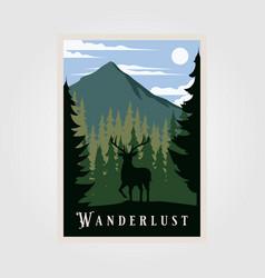 National park wanderlust vintage poster design vector