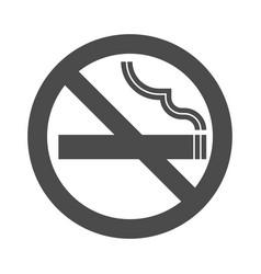 non smoking area sign symbol silhouette vector image