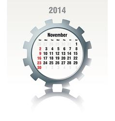 November 2014 - calendar vector image