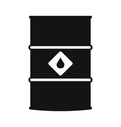 Oil barrel black simple icon vector image