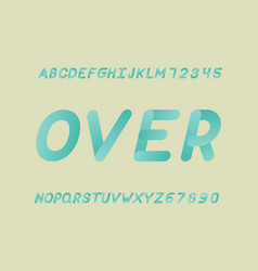 Over font alphabet vector