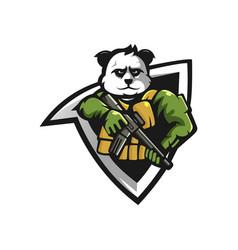 panda mascot logo vector image