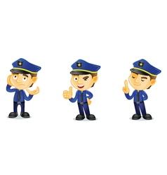 Policeman 2 vector image vector image