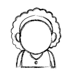 Portrait woman character female avatar image vector