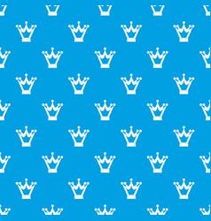 princess crown pattern seamless blue vector image