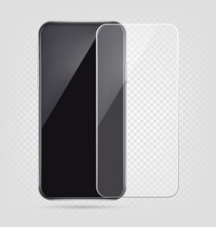 realistic smartphone screen protector film cell vector image