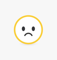 sad face bad customer review and emotional vector image