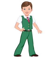 school boy green vector image vector image